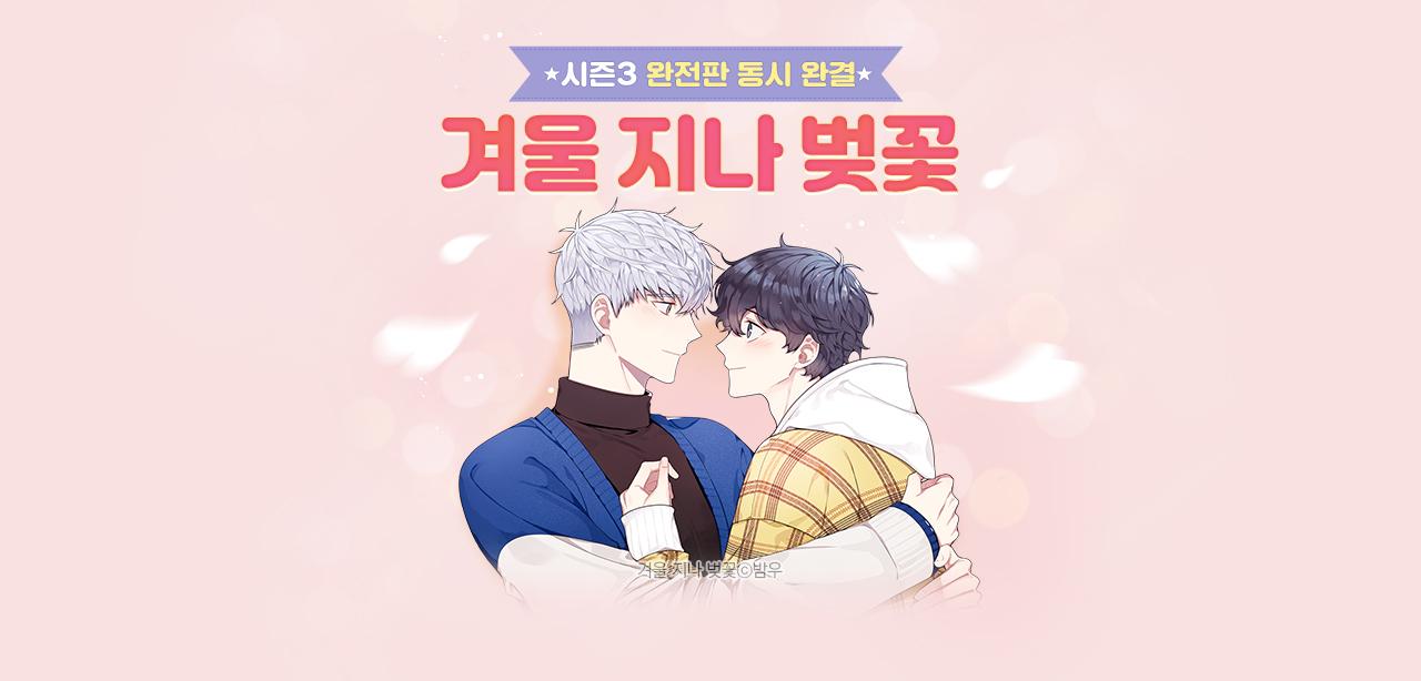 웹툰_겨울 지나 벚꽃_마케팅용 페이지 배너